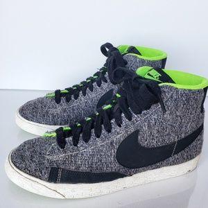 Nike Womens Blazer Mid Grey/Blk/Sublime Size #7